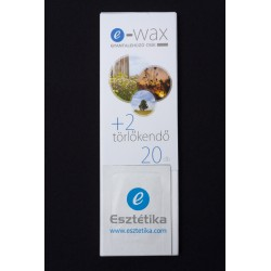 Gyantalehúzócsík 20 db-os + 2 db törlőkendő e-wax