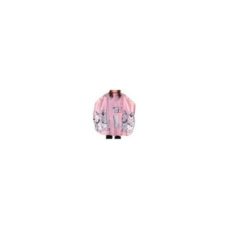 Hajvágó kendő gyermek pink kapcsos 95x120