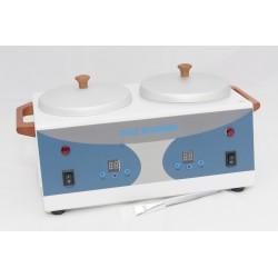 Gyanta és paraffinmelegítő gép 2 tégelyes digitális