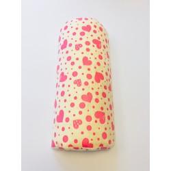 Kéztartó párna sárga-pink mintás