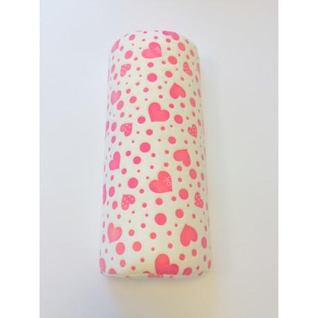 Kéztartó párna ekrü-pink mintás