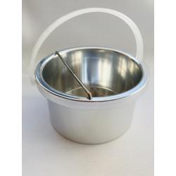 Gyantamelegítő fém tálka műanyag füllel 400ml