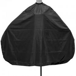 Hajvágó kendő színes fekete  kapcsos 145x120 J-30