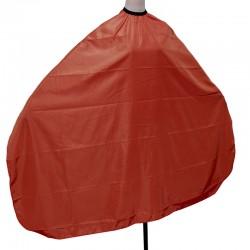 Hajvágó kendő színes (piros)  kapcsos 145x120 J-30