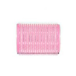 Hajcsavaró öntapadós pink  12db-os 30mm