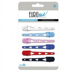 Hajcsat műanyag szíves Eurostil 00086