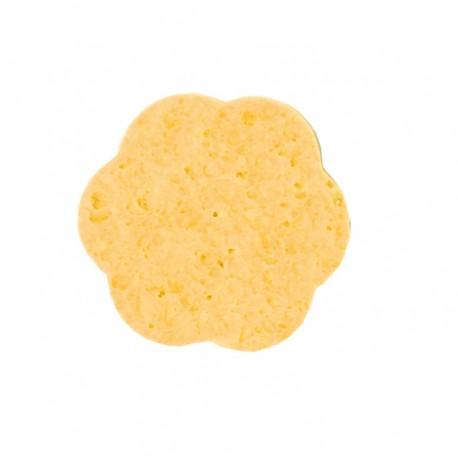 Kozmetikai lemosó szivacs virág sárga 12db-os Eurostil 01355/77
