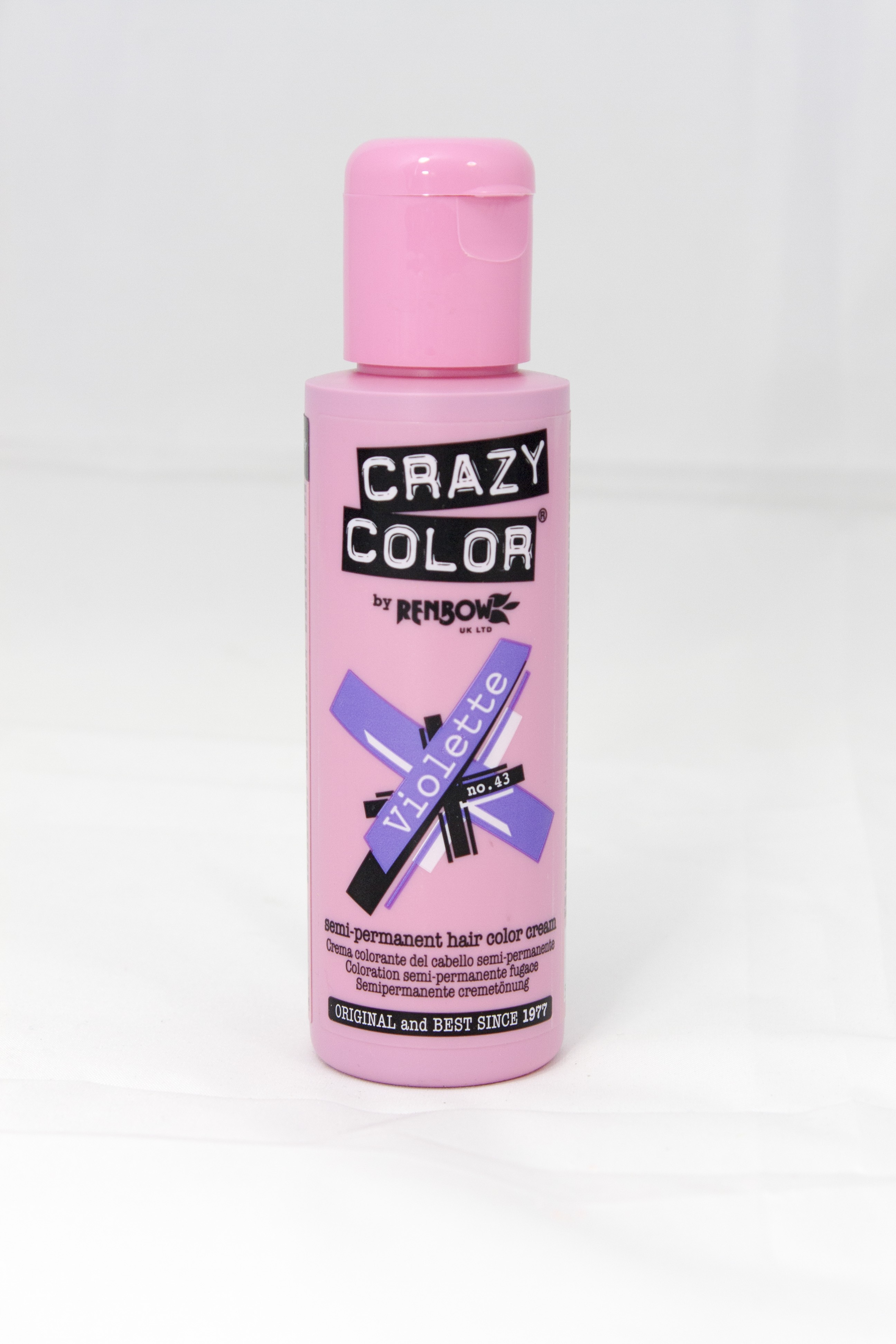 Renbow Crazy Color Semi Permanent Hair Color Cream Violette No43